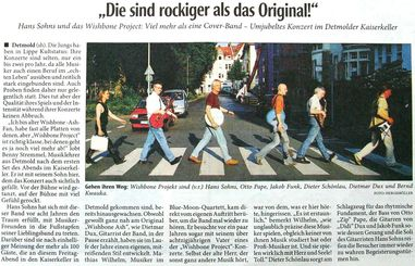 Wishbone Project in der Presse am 26.04.2008